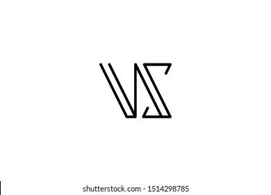 Creative Innovative Initial Letter logo VS SV. Minimal luxury Monogram. Professional initial design. Premium Business typeface. Alphabet symbol and sign.