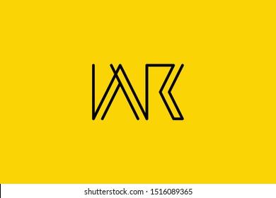Creative Innovative Initial Letter logo WR RW. Minimal luxury Monogram. Professional initial design. Premium Business typeface. Alphabet symbol and sign.