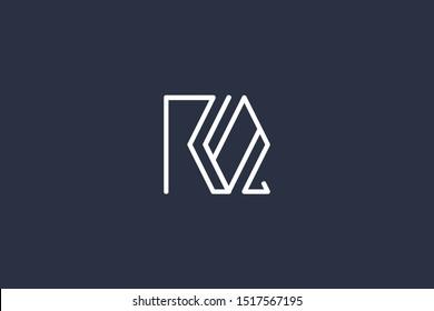 Creative Innovative Initial Letter logo RQ QR. Minimal luxury Monogram. Professional initial design. Premium Business typeface. Alphabet symbol and sign.