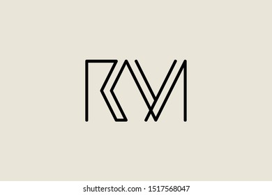 Creative Innovative Initial Letter logo RM MR. Minimal luxury Monogram. Professional initial design. Premium Business typeface. Alphabet symbol and sign.