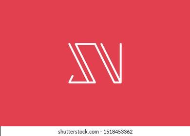 Creative Innovative Initial Letter logo SV VS. Minimal luxury Monogram. Professional initial design. Premium Business typeface. Alphabet symbol and sign.