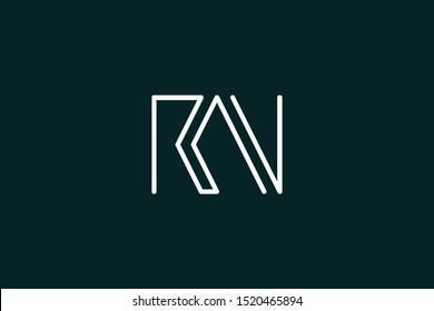 Creative Innovative Initial Letter logo RN NR. Minimal luxury Monogram. Professional initial design. Premium Business typeface. Alphabet symbol and sign.