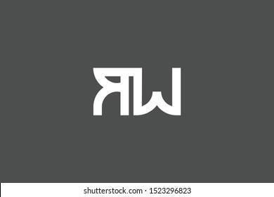 Creative Innovative Initial Letter logo RW WR. Minimal luxury Monogram. Professional initial design. Premium Business typeface. Alphabet symbol and sign.