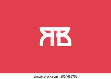 Creative Innovative Initial Letter logo RB BR. Minimal luxury Monogram. Professional initial design. Premium Business typeface. Alphabet symbol and sign.