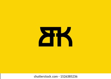 Creative Innovative Initial Letter logo BK KB. Minimal luxury Monogram. Professional initial design. Premium Business typeface. Alphabet symbol and sign.