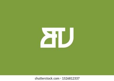 Creative Innovative Initial Letter logo BV VB BU UB. Minimal luxury Monogram. Professional initial design. Premium Business typeface. Alphabet symbol and sign.