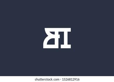 Creative Innovative Initial Letter logo BI IB. Minimal luxury Monogram. Professional initial design. Premium Business typeface. Alphabet symbol and sign.