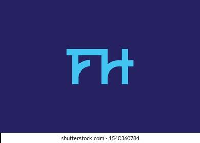 Creative Innovative Initial Letter logo FH HF. Minimal luxury Monogram. Professional initial design. Premium Business typeface. Alphabet symbol and sign.