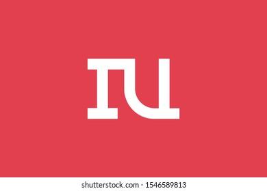 Creative Innovative Initial Letter logo IU UI. Minimal luxury Monogram. Professional initial design. Premium Business typeface. Alphabet symbol and sign.