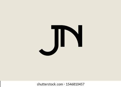 Creative Innovative Initial Letter logo JN NJ. Minimal luxury Monogram. Professional initial design. Premium Business typeface. Alphabet symbol and sign.