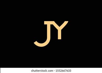 Creative Innovative Initial Letter logo JY YJ. Minimal luxury Monogram. Professional initial design. Premium Business typeface. Alphabet symbol and sign.