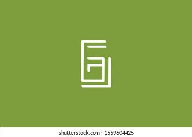 Creative Innovative Initial Letter logo G GG. Minimal luxury Monogram. Professional initial design. Premium Business typeface. Alphabet symbol and sign.