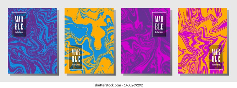 Creative journal layouts set. Pattern for binder template, corporate flyers. Annual report cover corporate layouts set. Flyer, brochure, report, journal, binder vectors, title place.