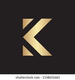 Creative K letter logo design vector