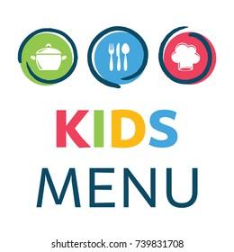 Creative kids menu design template vector illustration