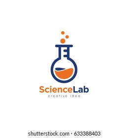 Creative Laboratory Concept Logo Design Template