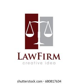 Creative Law Concept Logo Design Template