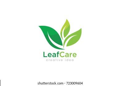 Creative Leaf Concept Logo Design Template