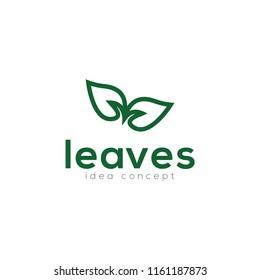 Creative Leaves Concept Logo Design Template