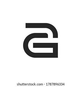 Creative letter AG logo design