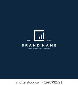 creative Letter C Financial Chart Logo Design vector template