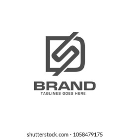 creative letter ds logo vector