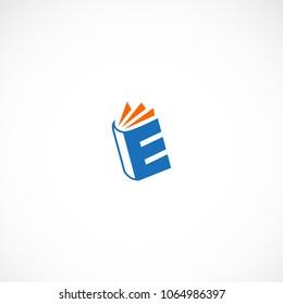 Creative letter E book vector designs