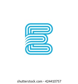 Creative Letter E Logo design vector template Linear. Type Character Symbol Logotype.