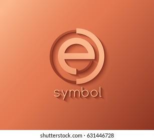 Creative Letter E Logo Design Template : Vector Illustration