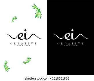 creative letter ei/ie logo vector