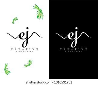 creative letter ej/je logo vector