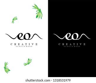 creative letter eo/oe logo vector