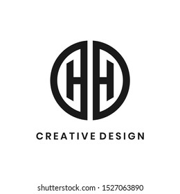 Creative letter HH logo design vector template