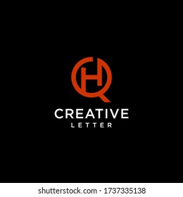 creative letter HQ logo vector,initial QH geometric and modern design,circle shape icon