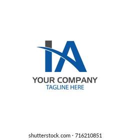 Creative Letter IA Logo design