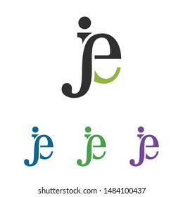 creative letter je logo design