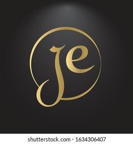 Creative letter JE Logo Design Vector Template. Initial Linked Letter JE Logo Design