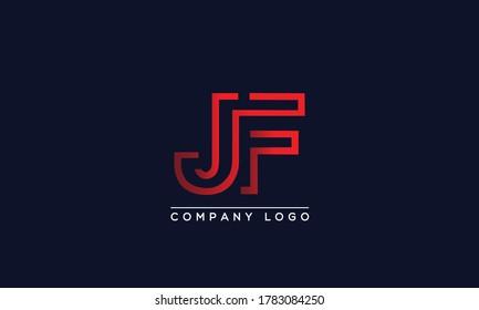 Creative Letter JF Logo Design Vector Template. Initial Letter JF Logo Design