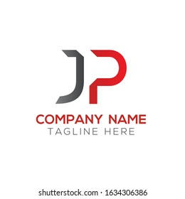 Creative letter JP Logo Design Vector Template. Initial Linked Letter JP Logo Design