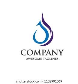 creative letter js water drop logo vector