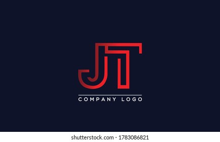 Creative Letter JT or TJ Logo Design Vector Template. Initial Letter JT Logo Design