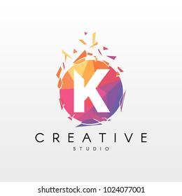Creative Letter K Logo Design.