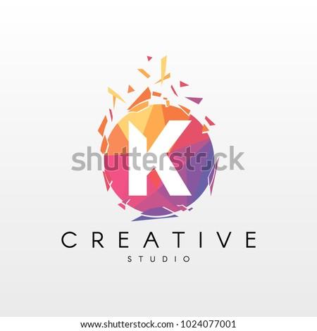 vetor stock de creative letter k logo design livre de direitos