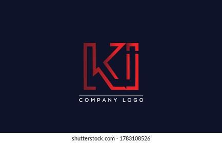 Creative Letter KI or IK Logo Design Vector Template. Initial Letter KN Logo Design