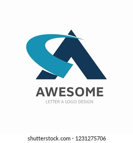 Creative Letter A Logo design vector template. Type Characters Logotype symbols.