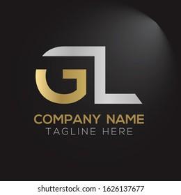 Creative Letter Logo Design vector Template. Abstract Letter GL logo Design