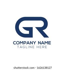 Creative Letter Logo Design vector Template. Abstract Letter GR logo Design