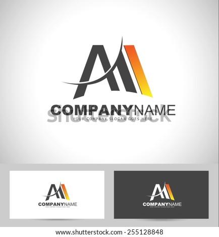 vetor stock de creative letter m logo design creative livre de