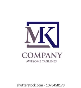 creative letter MK logo vector template
