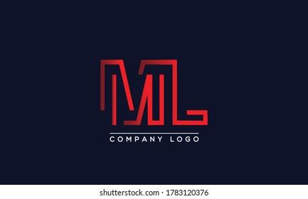 Creative letter ML or LM Logo Design Vector Template. Initial Letter ML Logo Design